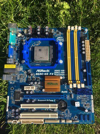 Материнская плата ASRock N68C-GS и процессор AMD Athlon II 2500