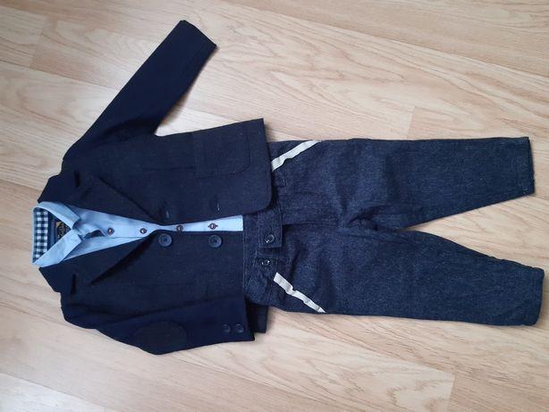 Elegancki komplet marynarka spodnie koszula