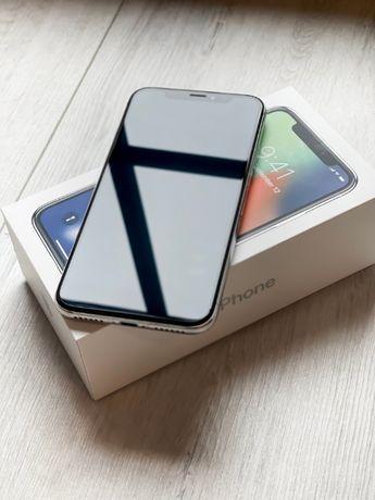IPhone X 64 GB Silver _ stan super + DODATKI