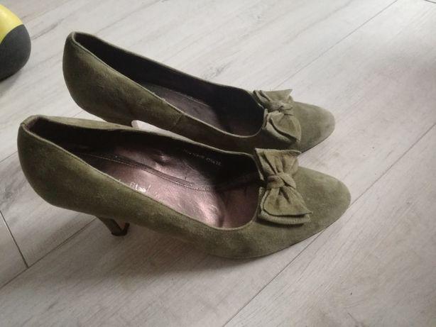 Czółenka,buty damskie zamsz