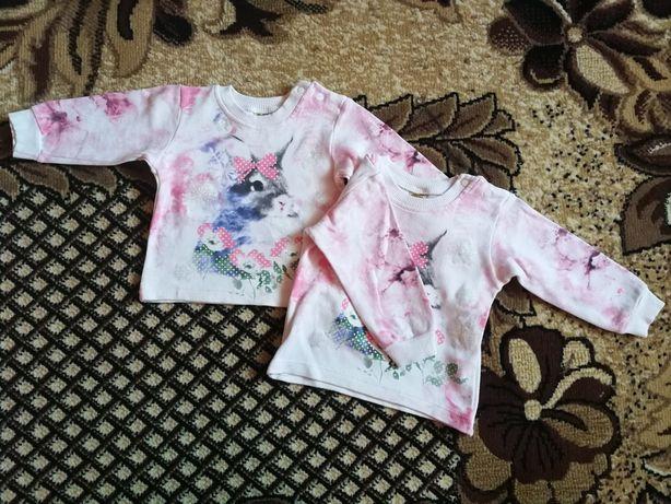 Bluzki dziewczęce dla bliźniaczek (bliźniaczki) 80 86