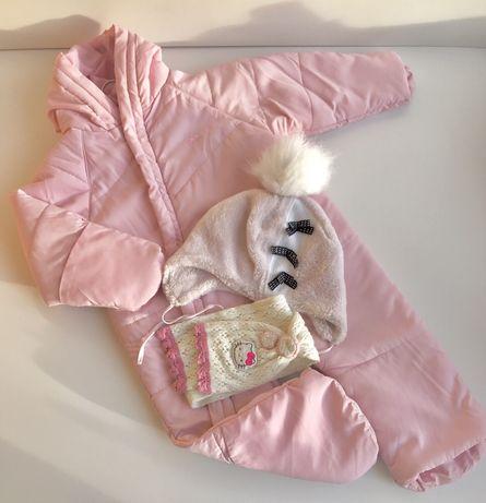Комбинезон осень/еврозима TRESPASS на девочку 18-24 мес(шапка и шарфик