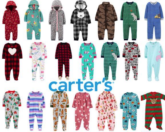 Флисовый ромпер, Carters, человечек, слип, пижама, Картерс