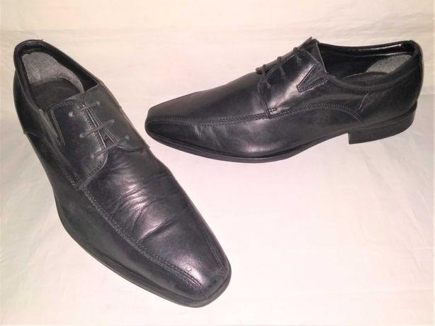 туфли кожаные Clarks на шнурках мужские б/у, размер 42,5 стелька 28см