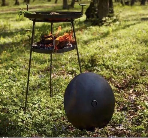 Сковорода с подставкой для дров