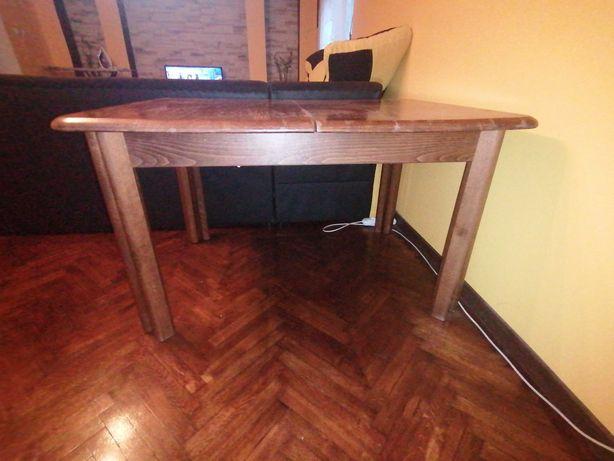 Duży masywny stół rozkładany 2.80m plus sześć krzesel