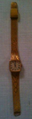 """часы наручные женские """"Луч"""" с браслетом из ссср,позолота,б/у"""
