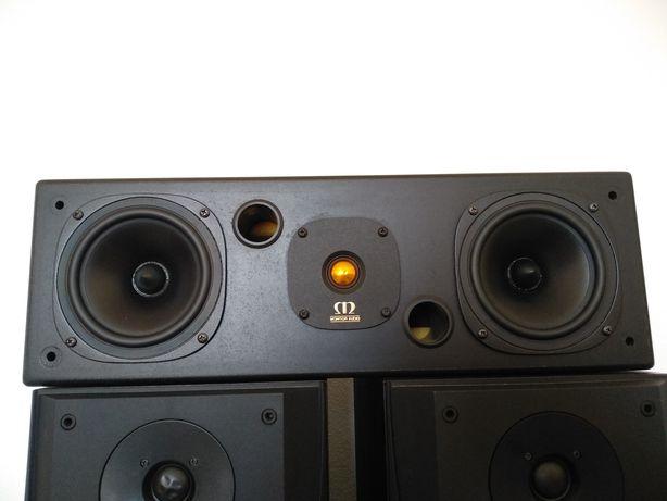 Colunas B&W DM305 e coluna central Monitor Audio