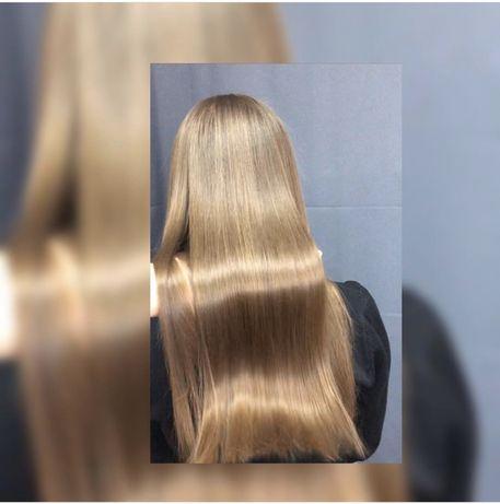 Кератин , ботокс, биксипластия, окрашивание волос