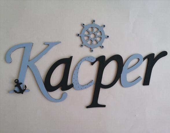 Imię Kacper drewniane literki