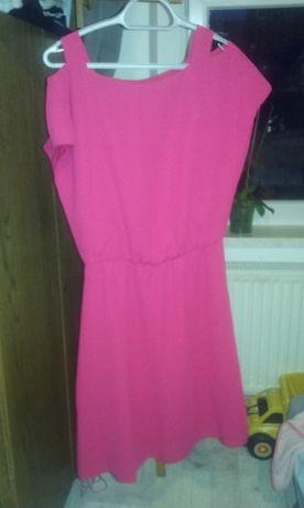 Sukienka damska różowa i bordowa