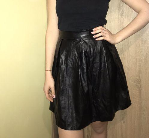 Кожана юбка