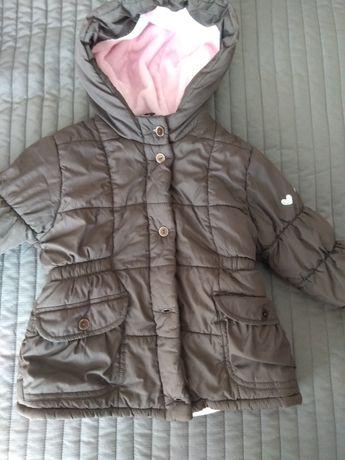 Zestaw 2x kurtka, spodnie ocieplane 86-92