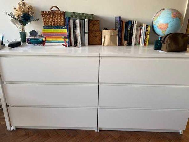 Cómoda branca IKEA com 3 gavetas, 80x78 cm