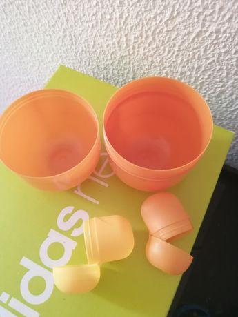 Lote 3 ovos plástico