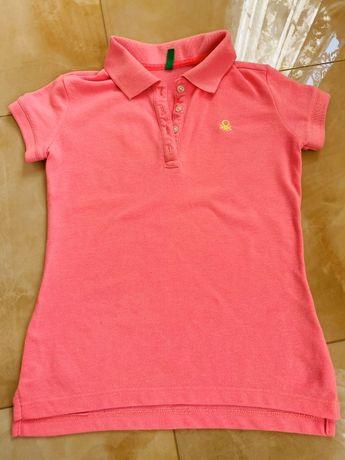 Polo Benetton,розового и синего цвета
