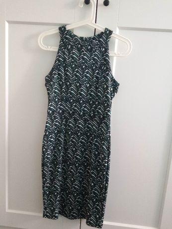 Piękna sukienka liście palmy zip rozm. S