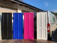 Drzwi drewniane białe , czarne,niebieskie,różowe,zielone,