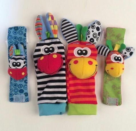 Sozzy носочки и браслеты с погремушкой набор развивающий