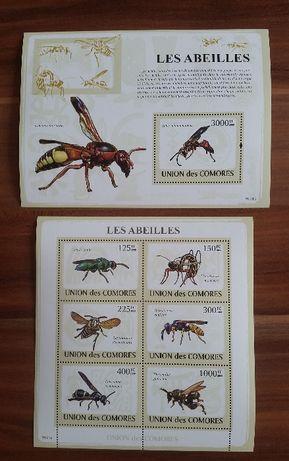 Znaczki pocztowe - Komory - pszczoły