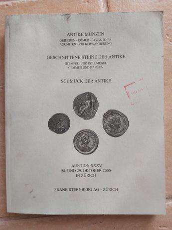 Szwajcarski katalog aukcyjny monet 2000.