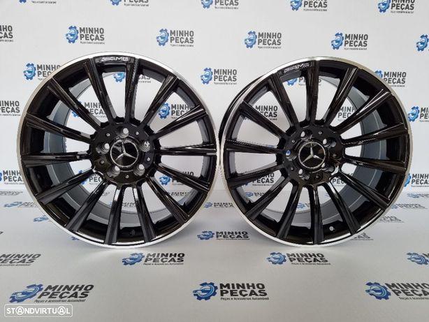 "Jantes Mercedes (C63) AMG Turbine em 18"" Gloss Black"