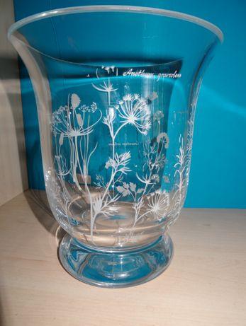 wazon szklany - malowany