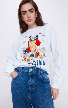 ZARA Зара новая толстовка свитер худи реглан Disney Белоснежка 38,36 М