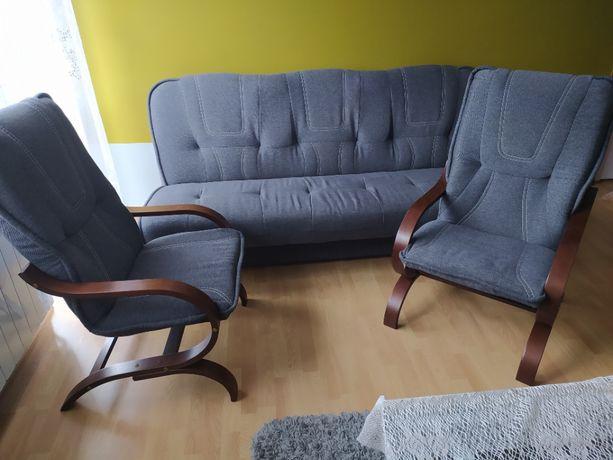 Komplet wypoczynkowy, zestaw, kanapa/ sofa / wersalka + 2 fotele