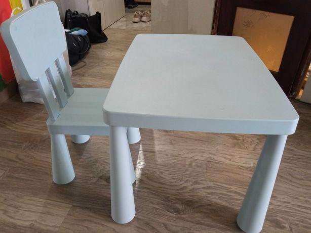 Стол и стул детский МАММУТ  ИКЕА  1500 руб.