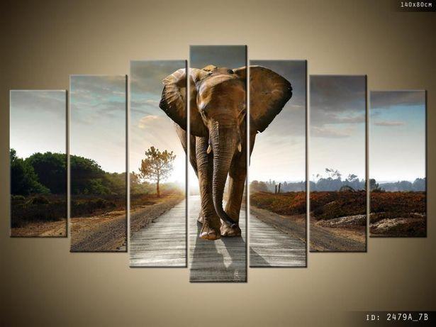 Słoń, Tryptyk, Obrazy na płótnie, Canvas, pomysł na prezent, sklep