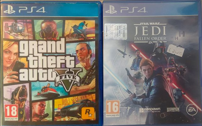 Обмен игр PS4/Playstation4 GTA 5, Star Wars: Jedi Fallen Order