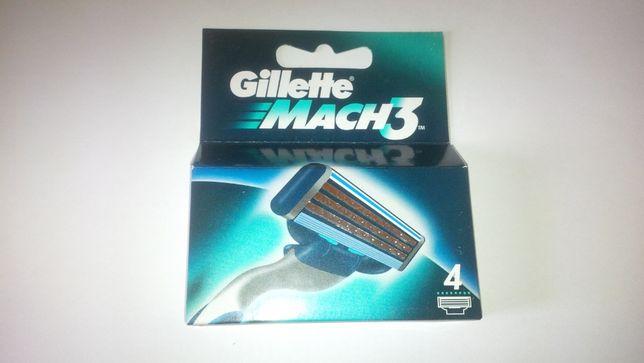 Лезвия для бритвы Gillette Mach3 4шт.