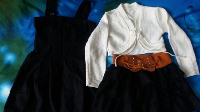 Sukienka.elegancka spódniczka .sweterek