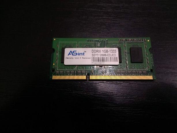 Оперативная память (оперативка) ASint DDR3 1GB-1333 SSY3128M8-EDJED