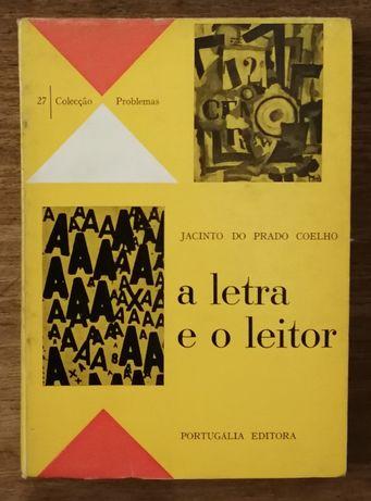 a letra e o leitor, jacinto do prado coelho, portugália