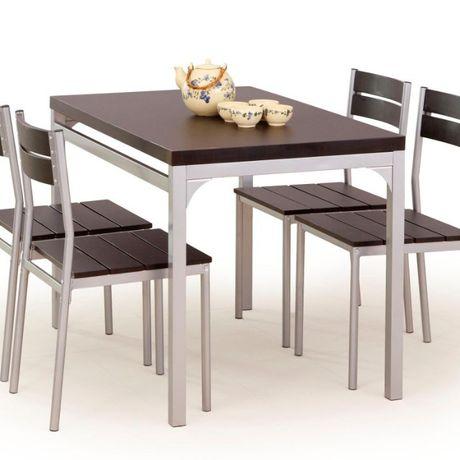 Do każdej jadalni - komplet MALCOLM - stół i 4 krzesła