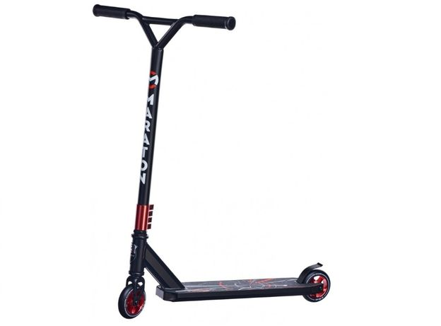 Самокат трюковый с металлическими колесами и усиленной декой для стрит