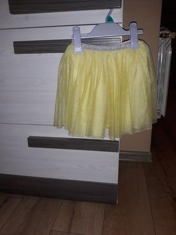 Spódnica Zara tiul8wa żółta roz 110