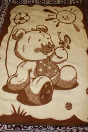 Шерстяное новое одеяло