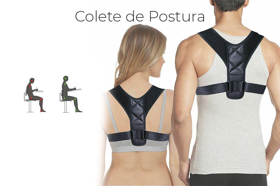 Colete ortopédico corretor de postura para a coluna e costas Real, Dume E Semelhe - imagem 1