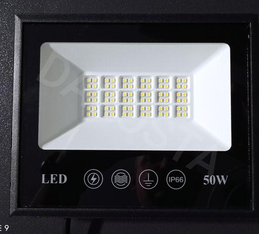 Nowość mocny halogen LED 50W  zewnętrzny wodoodporny hale parking