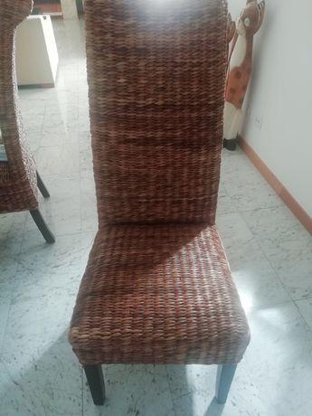 Cadeiras vime ótimo estado