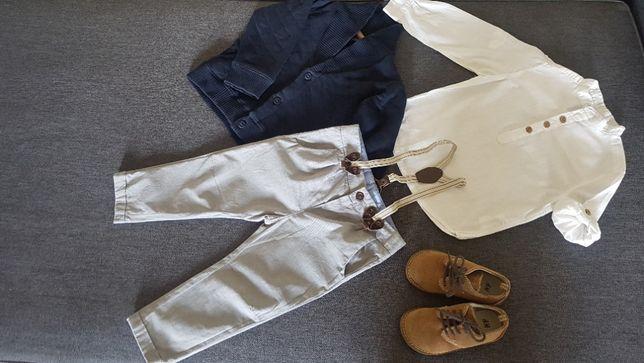 Zestaw dla małego eleganta r. 86 -92 Zara, buciki H&M r.24