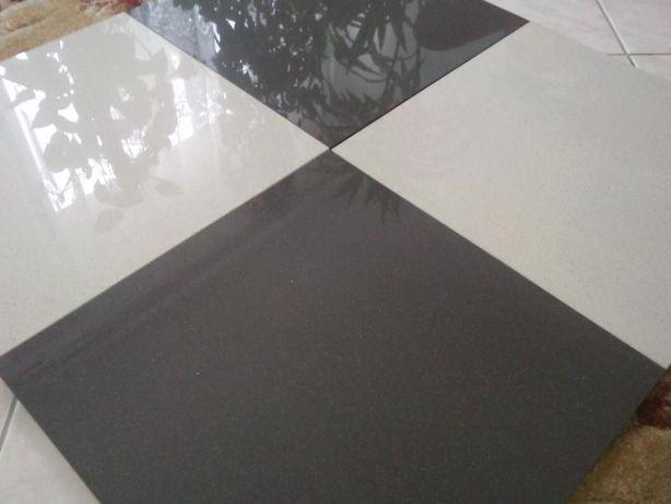 Gres 400x400 szkliwiony polerowany płytki podłogowe 40x40cm CZARNY BEŻ