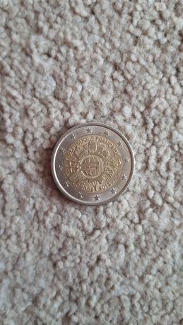 2 euros 10 aniversário da moeda de euro França 2012
