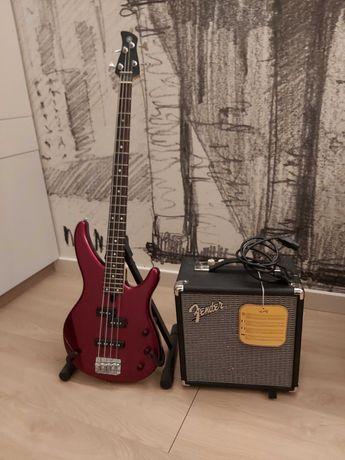 Бас-гитара YAMAXA TRBX174 RM, Комбоусилитель Fender RUMBLE 15 + чехол