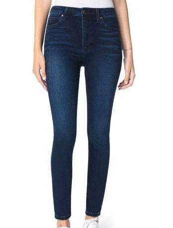 Идеальные тёмно-синие джинсы скинни на высокой талии skinny