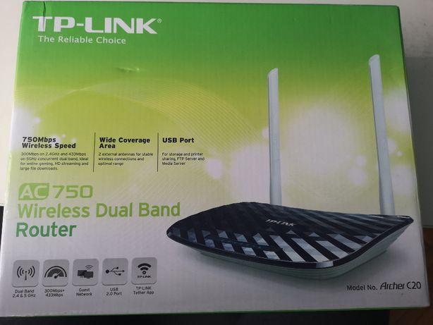 Router tp-link Aucher c20 AC750 2.4&5Ghz jak nowy
