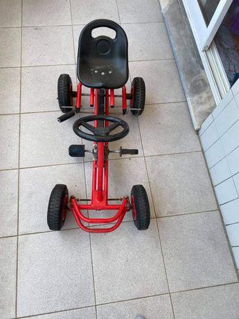 Kart a pedais pneus borracha com camara de ar